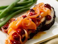 Latin Crusted Pork Loin with Smokey Apple Cranberry Sauce