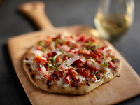 Grilled Alaska Crab Pizzetta