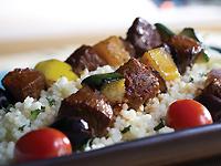Harissa Glazed Lamb Kebabs