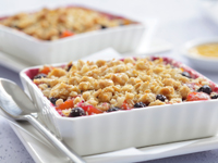 Peach-Blueberry Crumble with Alfalfa Honey