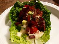Candied Bacon BLT in Lettuce Cups