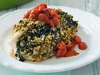 Pistachio Crusted Greek Chicken