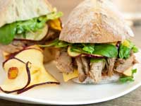 Pulled Duck Ciabatta Sandwiches