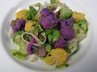 Rainbow Cauliflower Escabeche