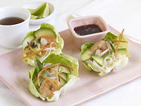 Spicy Shrimp Lettuce Wraps with California Avocado