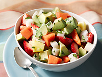 Avocado Fruit Salad with Lemonade Dressing