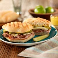 Cuban Torta with Savory Mustard