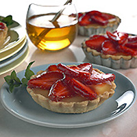 Honey-Glazed Strawberry Tarts