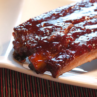 St. Louis Spare Ribs with Blackberry Jalapeno BBQ Sauce