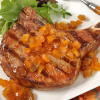 Very Mango Chutney with Grilled Pork Chops