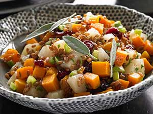 winter squash berry salad