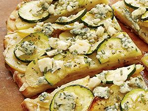 zucchini potato rosemary pizza