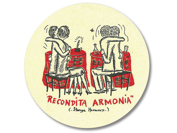 Recondita Armonia drink coaster
