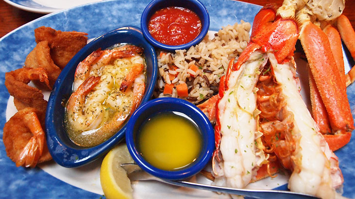 red lobster platter