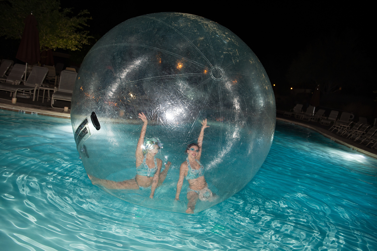 Water Contortionists at RLC Poolside Afterdark Party