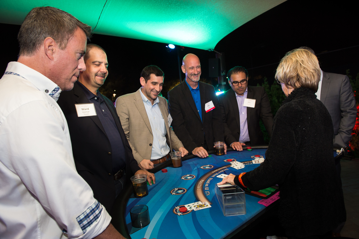 Casino games at RLC Poolside Afterdark Party