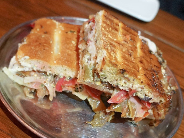 Roasted Eggplant Panini - Mud Hen Tavern
