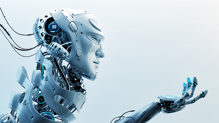 robot head graphic