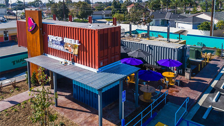 shipping container taco bell