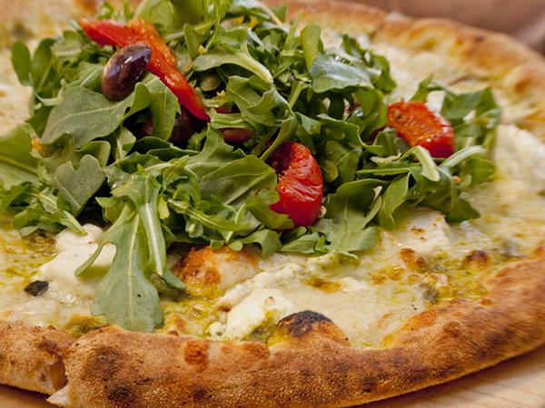 Simmzy's restaurant Arugula Foldover Pizza