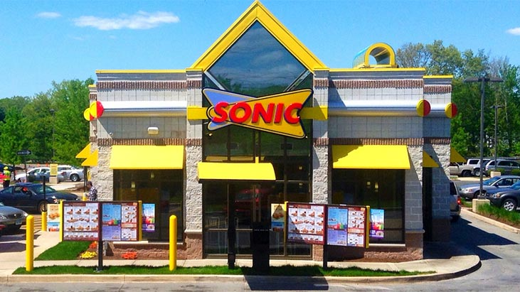 sonic drive-in front