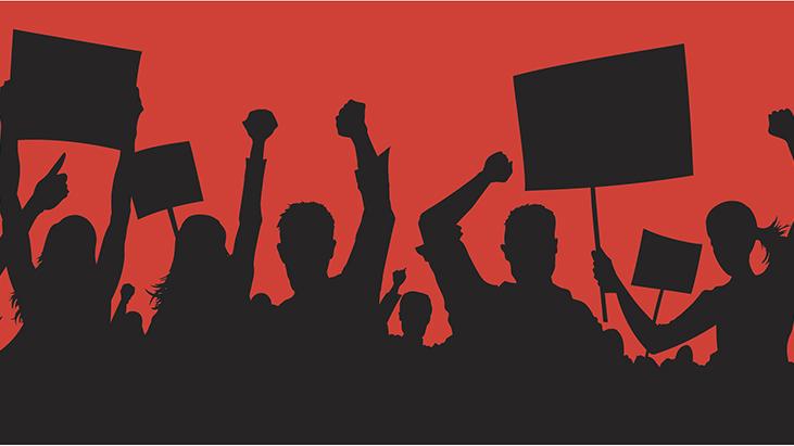 strike protest graphiic