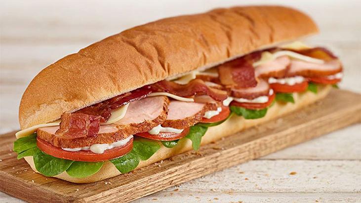 Subway foot-long Roasted Turkey sub sandwich
