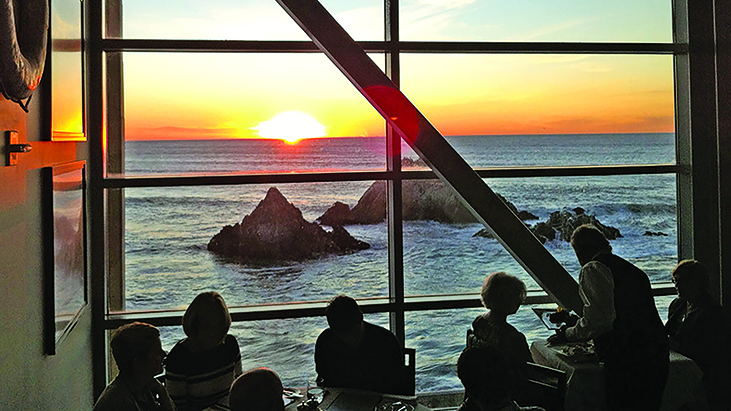 Sunset at Cliff House restaurant in San Francisco, California