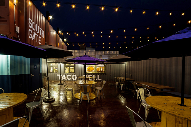 taco bell container interior seating