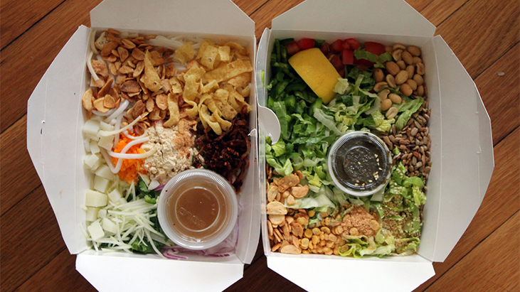 takeout food boxes