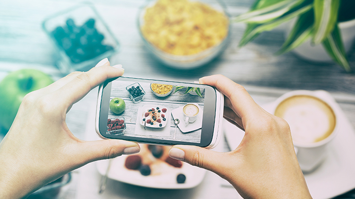taking picture of meal