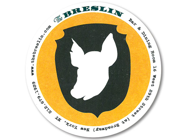 The Breslin drink coaster