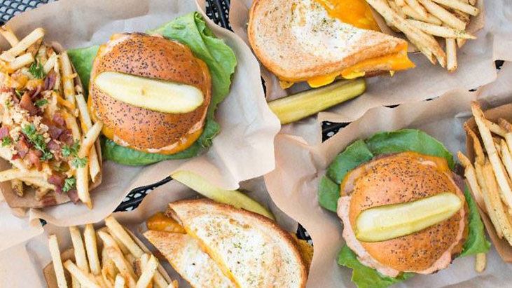 the melt burgers grilled cheese