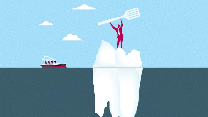 titanic ice berg restaurateur