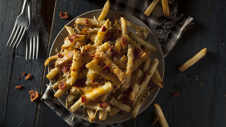 topped french fries authentic menu