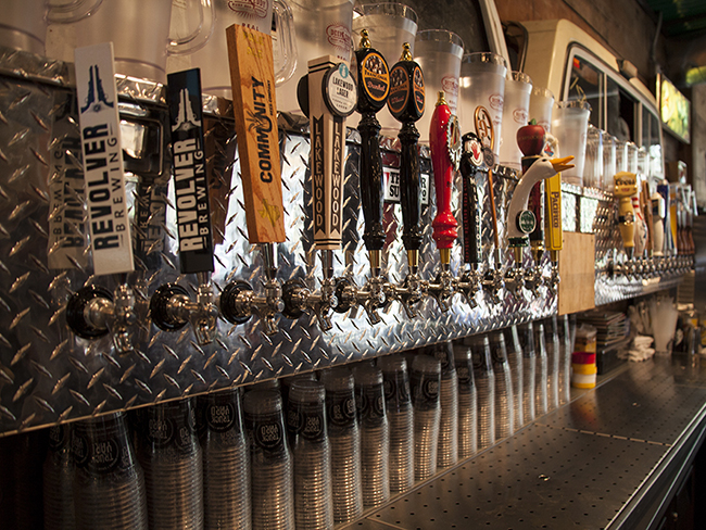 truck yard beverage taps