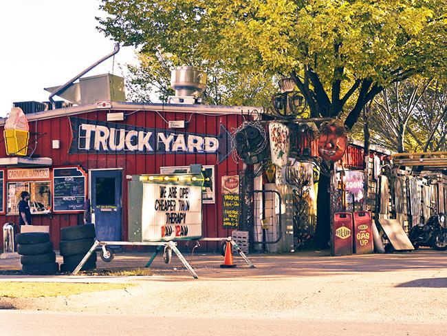 truck yard entrance