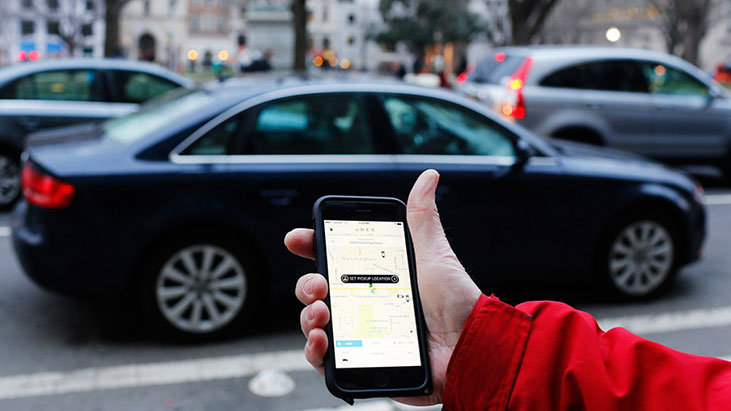 uber phone car hand