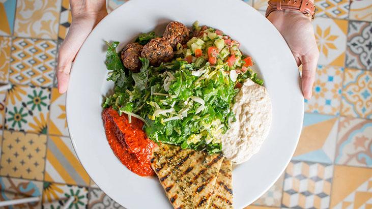 veggie grill pita salad