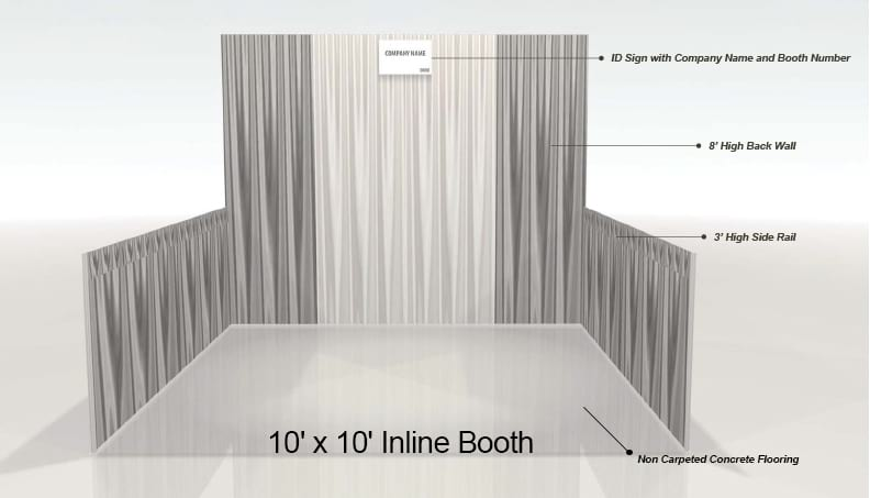 10' by 10' Inline Booth example